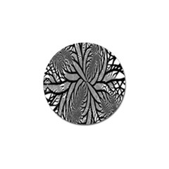 Fractal Symmetry Pattern Network Golf Ball Marker