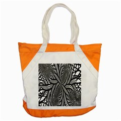 Fractal Symmetry Pattern Network Accent Tote Bag