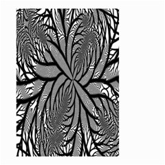 Fractal Symmetry Pattern Network Small Garden Flag (two Sides)