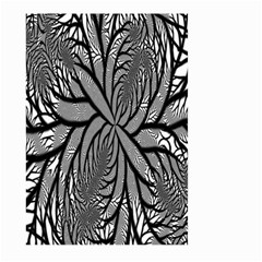 Fractal Symmetry Pattern Network Large Garden Flag (two Sides)