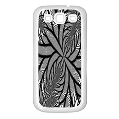 Fractal Symmetry Pattern Network Samsung Galaxy S3 Back Case (white)