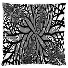 Fractal Symmetry Pattern Network Standard Flano Cushion Case (one Side)