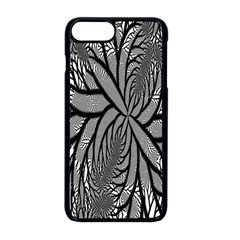 Fractal Symmetry Pattern Network Apple Iphone 8 Plus Seamless Case (black)