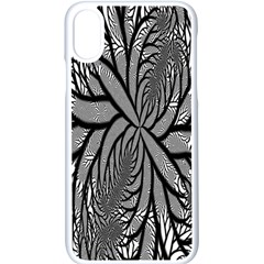 Fractal Symmetry Pattern Network Apple Iphone X Seamless Case (white)