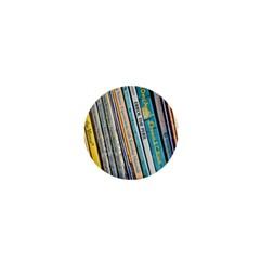 Bookcase Books Data Education 1  Mini Buttons