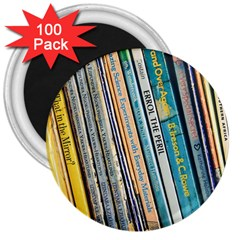 Bookcase Books Data Education 3  Magnets (100 Pack)