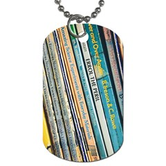 Bookcase Books Data Education Dog Tag (two Sides)