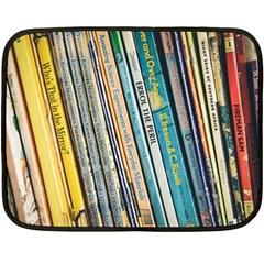 Bookcase Books Data Education Fleece Blanket (mini)