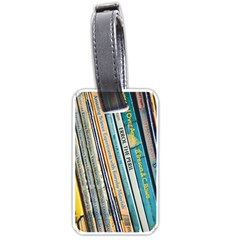 Bookcase Books Data Education Luggage Tags (two Sides)