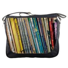 Bookcase Books Data Education Messenger Bags