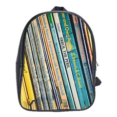 Bookcase Books Data Education School Bag (xl)