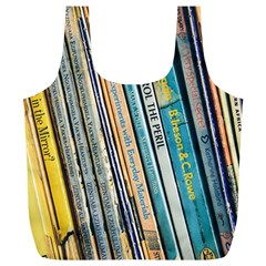 Bookcase Books Data Education Full Print Recycle Bags (l)
