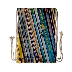 Bookcase Books Data Education Drawstring Bag (small)