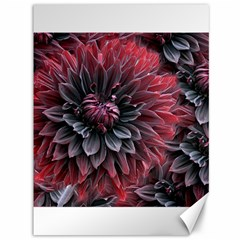 Flower Fractals Pattern Design Creative Canvas 36  X 48