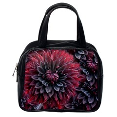 Flower Fractals Pattern Design Creative Classic Handbags (one Side)