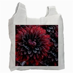 Flower Fractals Pattern Design Creative Recycle Bag (two Side)