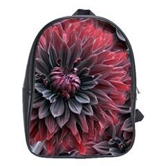 Flower Fractals Pattern Design Creative School Bag (large)