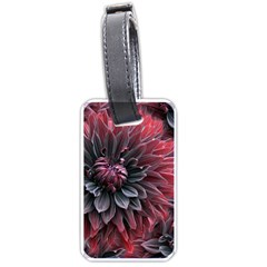 Flower Fractals Pattern Design Creative Luggage Tags (two Sides)