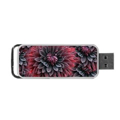 Flower Fractals Pattern Design Creative Portable Usb Flash (two Sides)