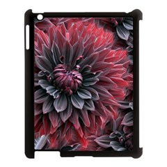 Flower Fractals Pattern Design Creative Apple Ipad 3/4 Case (black)