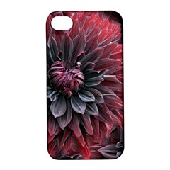 Flower Fractals Pattern Design Creative Apple Iphone 4/4s Hardshell Case With Stand