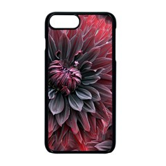 Flower Fractals Pattern Design Creative Apple Iphone 8 Plus Seamless Case (black)