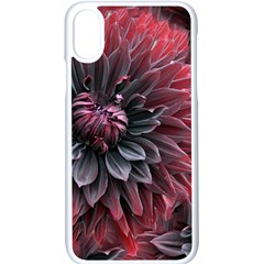 Flower Fractals Pattern Design Creative Apple Iphone X Seamless Case (white)