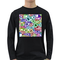 Board Interfaces Digital Global Long Sleeve Dark T Shirts