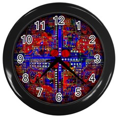 Board Interfaces Digital Global Wall Clocks (black)