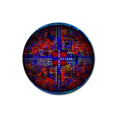 Board Interfaces Digital Global Rubber Coaster (round)