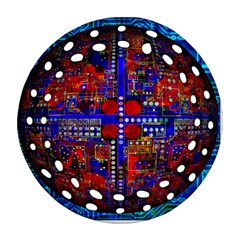 Board Interfaces Digital Global Round Filigree Ornament (two Sides)