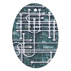 Board Circuit Control Center Oval Ornament (two Sides)
