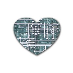 Board Circuit Control Center Heart Coaster (4 Pack)