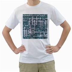 Board Circuit Control Center Men s T Shirt (white)