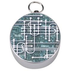 Board Circuit Control Center Silver Compasses