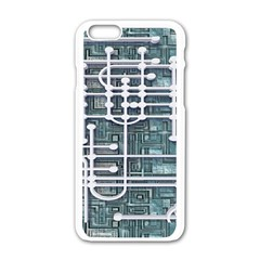 Board Circuit Control Center Apple Iphone 6/6s White Enamel Case