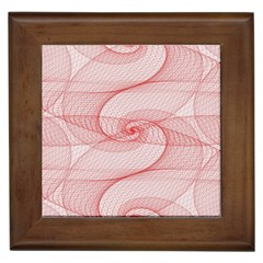 Red Pattern Abstract Background Framed Tiles