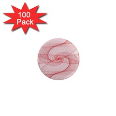 Red Pattern Abstract Background 1  Mini Magnets (100 Pack)