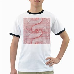 Red Pattern Abstract Background Ringer T Shirts