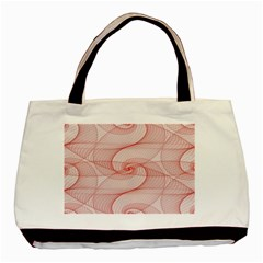Red Pattern Abstract Background Basic Tote Bag
