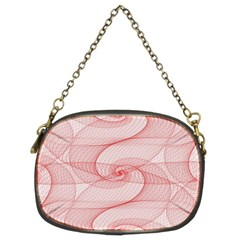 Red Pattern Abstract Background Chain Purses (two Sides)