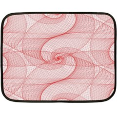 Red Pattern Abstract Background Double Sided Fleece Blanket (mini)