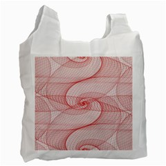 Red Pattern Abstract Background Recycle Bag (two Side)