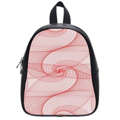 Red Pattern Abstract Background School Bag (small)
