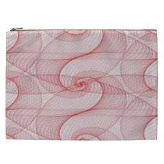 Red Pattern Abstract Background Cosmetic Bag (xxl)