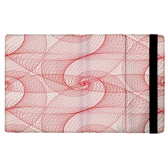 Red Pattern Abstract Background Apple Ipad 3/4 Flip Case