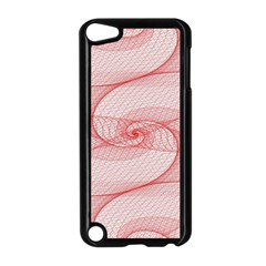 Red Pattern Abstract Background Apple Ipod Touch 5 Case (black)