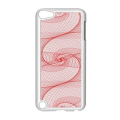 Red Pattern Abstract Background Apple Ipod Touch 5 Case (white)