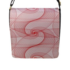 Red Pattern Abstract Background Flap Messenger Bag (l)
