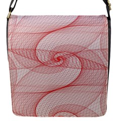 Red Pattern Abstract Background Flap Messenger Bag (s)